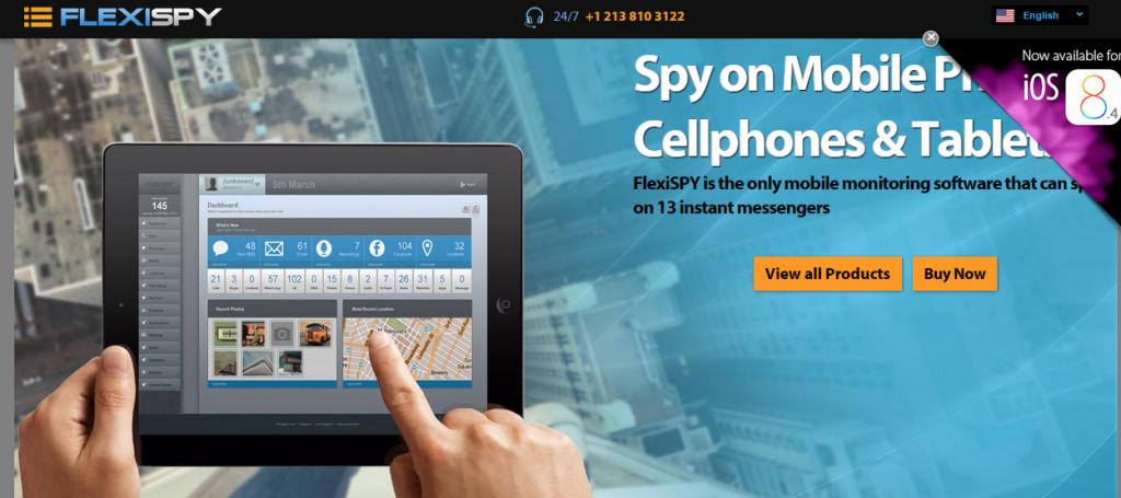 FlexiSPY.com Main Page